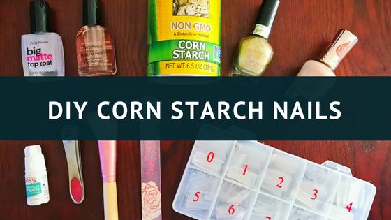 DIY Cornstarch Nails